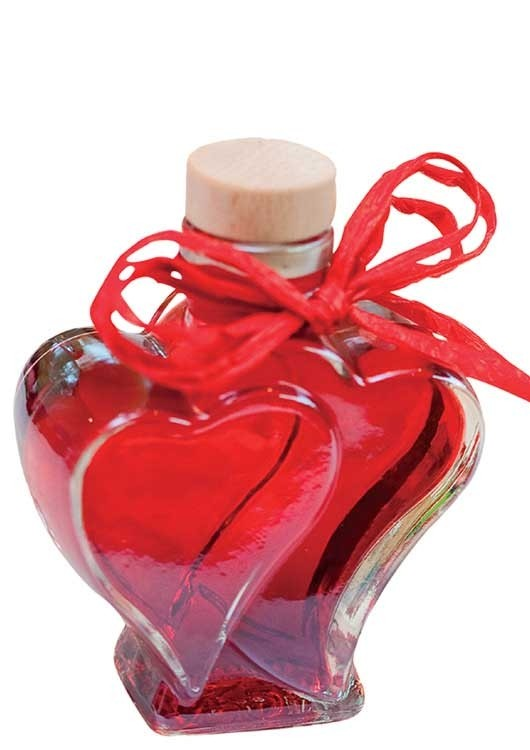 Crème de Framboise in Herzflasche