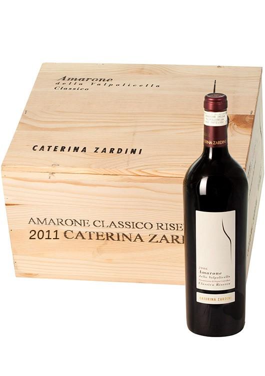6 Flaschen 2014 Amarone della Valpolicella Catherina Zardini in Holzkiste