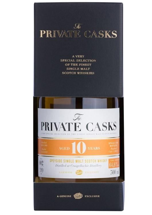 Speyside Single Malt Scotch Whisky Distilled at Craigellachie Distillery Single Cask, 10 Jahre (500 ml)