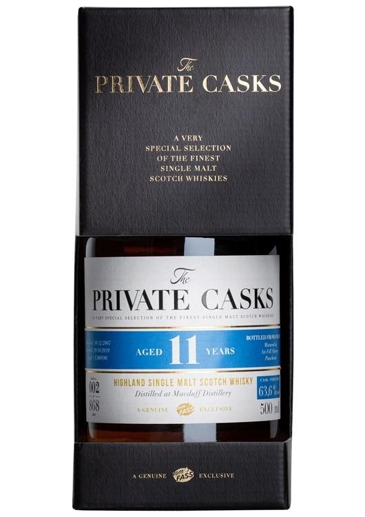 Highland Single Malt Scotch Whisky Distilled at Macduff Distillery Single Cask #L900590, 11 Jahre (500 ml)