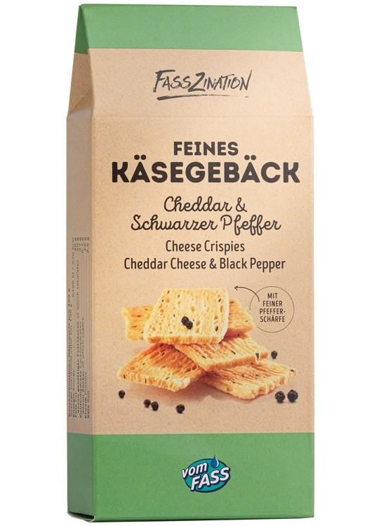 Käsegebäck Cheddar & schwarzer Pfeffer