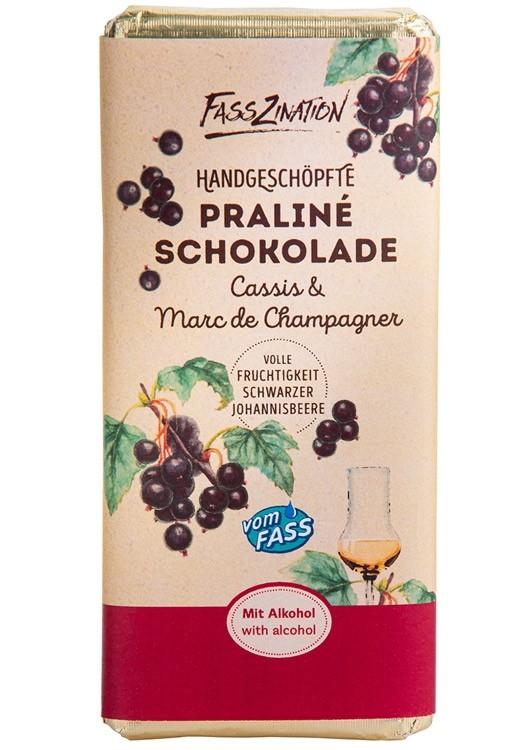 Praliné-Schokolade Cassis & Marc de Champagne