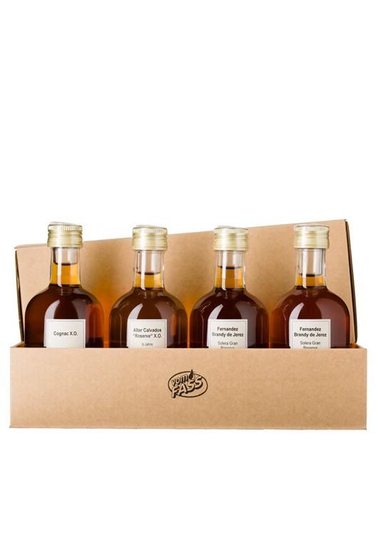 Probier- und Geschenkset: Cognac, Calvados und Co.