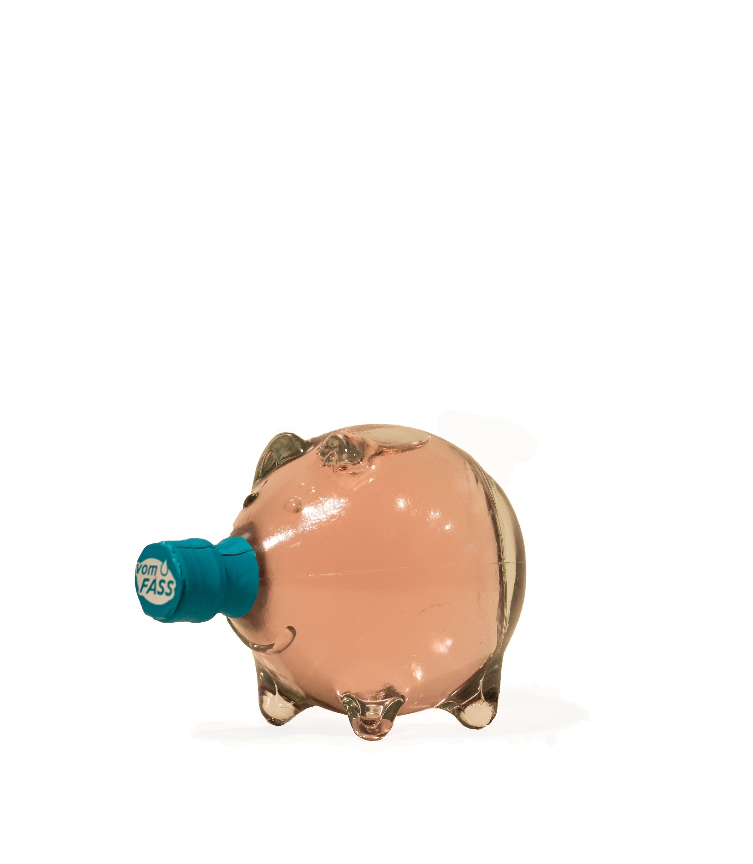 """Rosenlikör in der Schmuckflasche """"Schwein"""""""