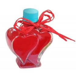 Erdbeerlimes in Herzflasche