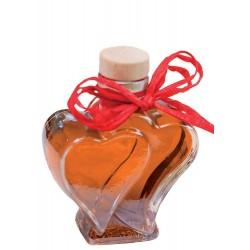Weinbergspfirsichlikör in Herzflasche