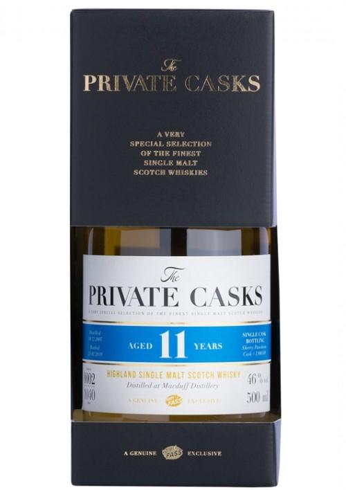 Highland Single Malt Scotch Whisky Distilled at Macduff Distillery Single Cask #L900588, 11 Jahre (500 ml)