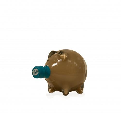"""Whisky Sahne - Cremelikör in der Schmuckflasche """"Schwein"""""""