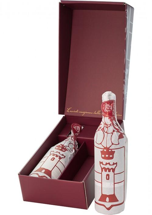 Weingeschenkset mit 2 Flaschen Rotwein vom Gardasee