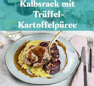 https://www.vomfass.at/Rezept Kalbsrack mit Trüffel Kartoffelpüree