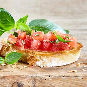 Bruschetta mit Tomatenragout