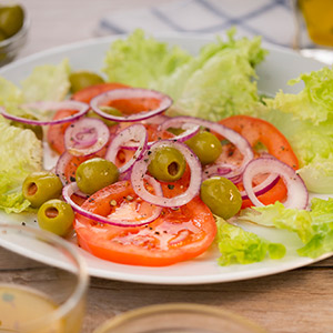 Bunter Kopfsalat