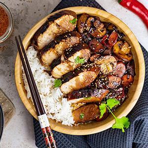 Chicken Teriyaki mit Maracuja Balsam-Essig