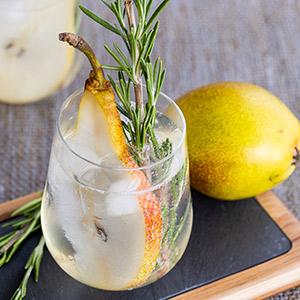 Birnen-Gin-Cocktail