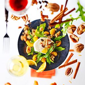 Mozzarella di Bufala mit Mandarinen und Nüssen