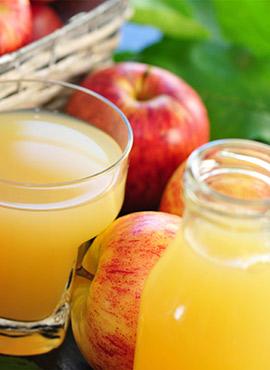 Apfelsaftproduktion
